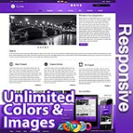 Ares Violet - Responsive Skin - Bootstrap - Corporate / Business / Mobile Tablet Skin